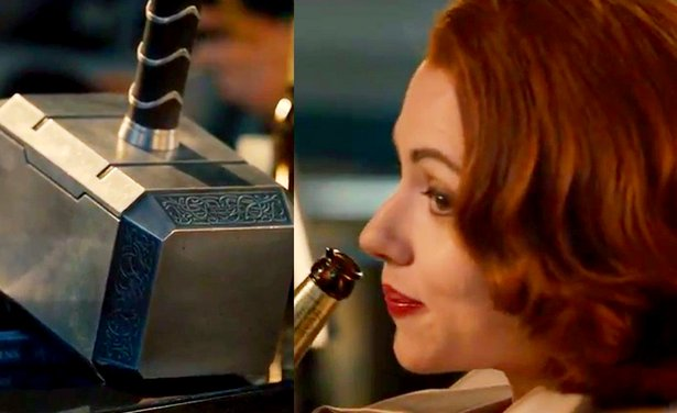 Black Widow refuses to lift Thor's hammer