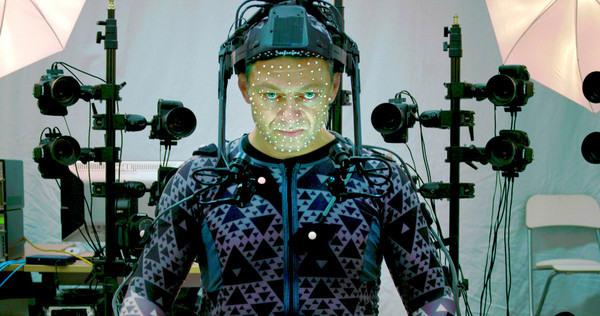 Andy Serkis in his motion-performance as Supreme Leader Snoke