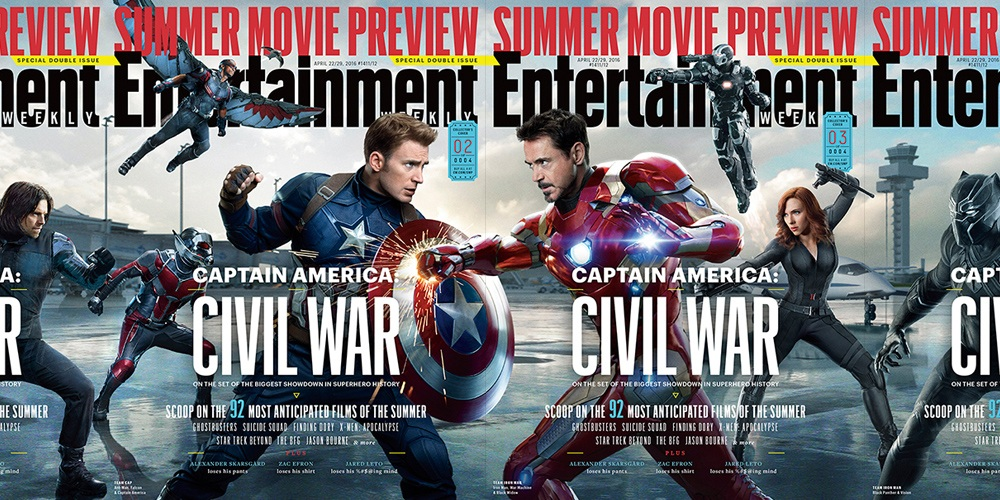 New Captain America: Civil War covers and stills released!