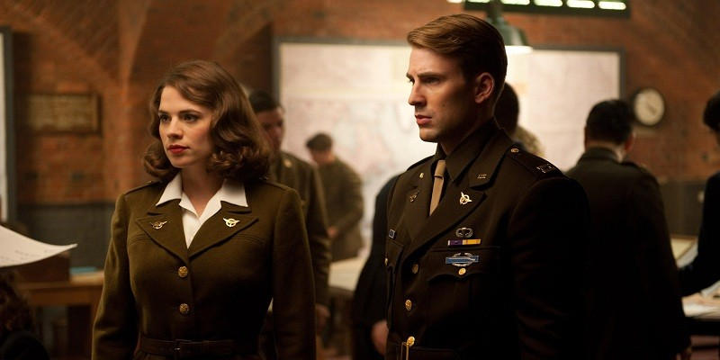 Peggy Carter wouldn't approve Captain America kissing her niece!