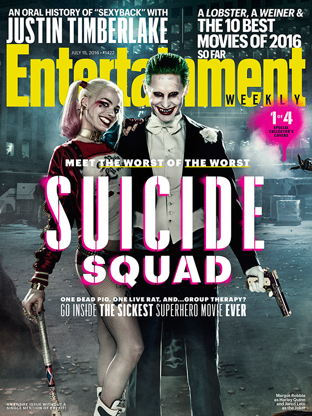Suicide Squad cover featuring Harley Quinn and The Joker!