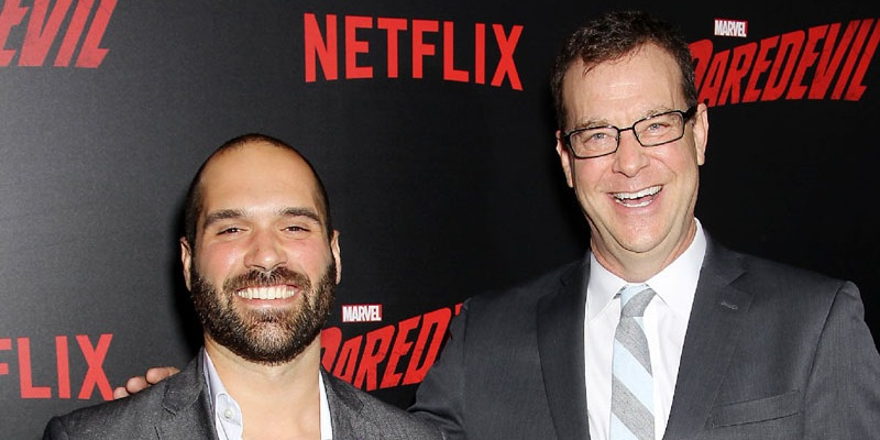 Marco Ramirez and Doug Petrie - the showrunners of Marvel's The Defenders!