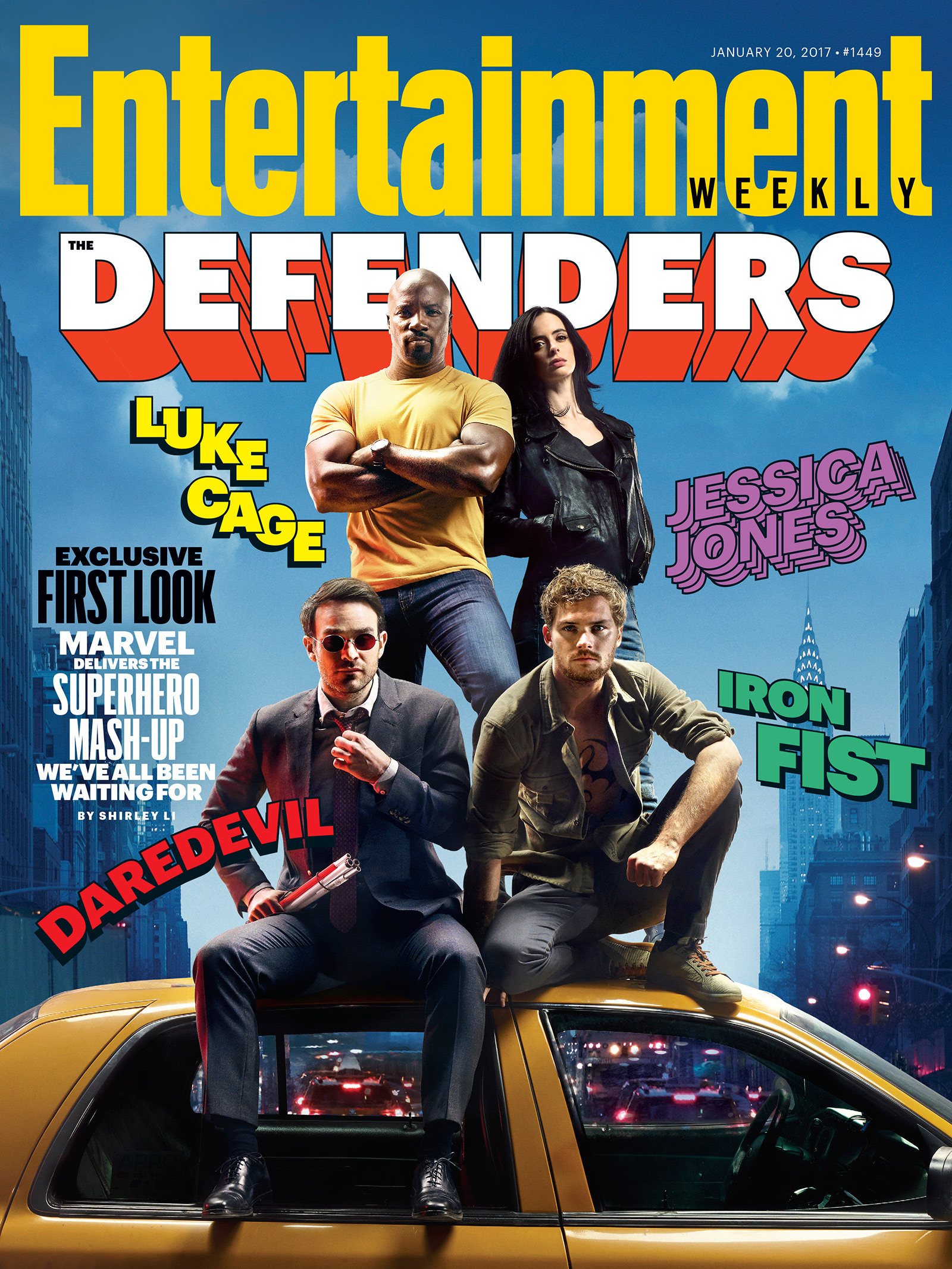 EW cover featuring the first look at The Defenders