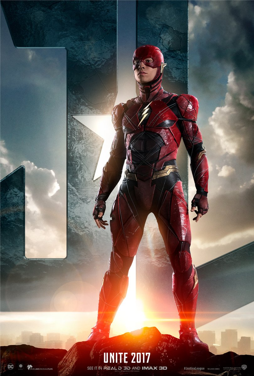 Justice League character poster for Ezra Miller's The Flash