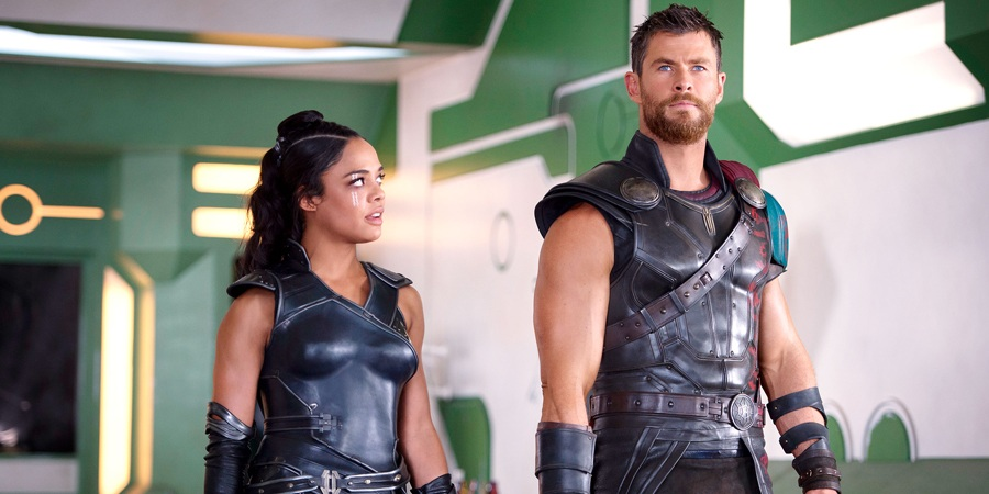 Valkyrie and the Norse God of Thunder in Thor: Ragnarok