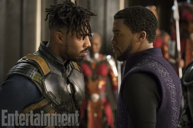 Killmonger and T'Challa face-off