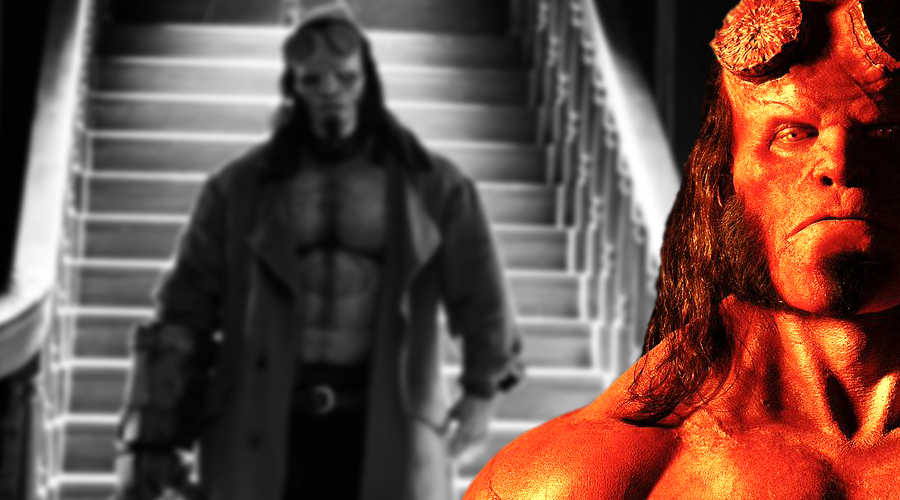 The first look at David Harbour's Hellboy arrives as Daniel Dae Kim confirms involvement!