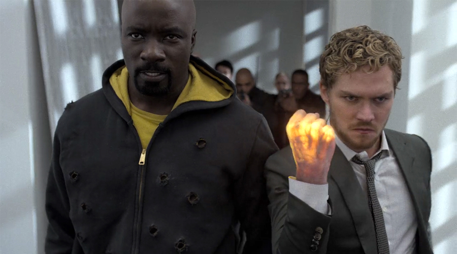 Iron Fist and Luke Cage in The Defenders