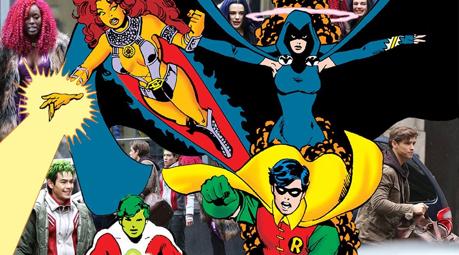 New Titans set photos offer our first look at Beast Boy, Raven and Starfire!