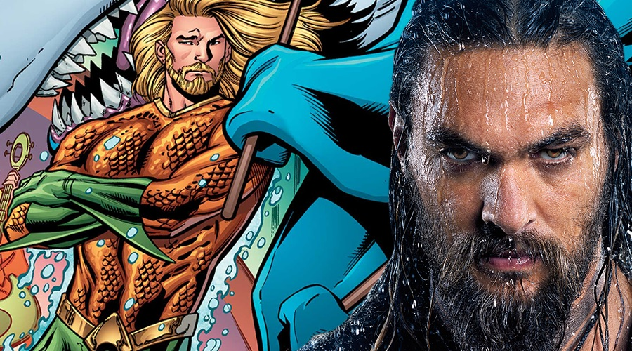 Aquaman statues exhibited at SDCC 2018 show off Jason Momoa in his superhero's classic green and gold suit!