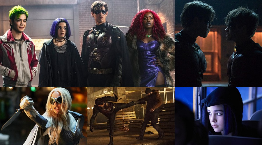 New stills from DC Universe's Titans bring the titular team together and offer our first look at Jason Todd in his Robin outfit!