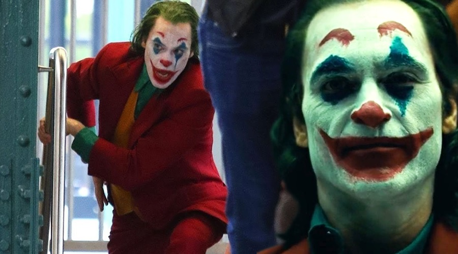 Joaquin Phoenix's Joker is back at the subway station in the new set videos!