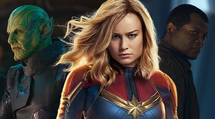 Two new Captain Marvel TV spots have arrived that show a Skrull's shapeshifting and Carol Danvers pulling Nick Fury's chain!